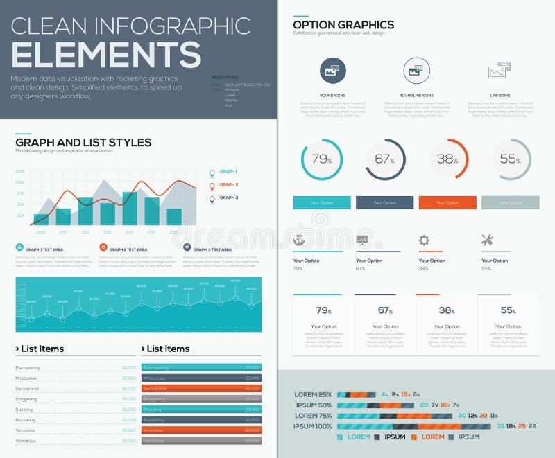 Gráficos y gráficos circulares para la visualización infographic de los datos del vector ilustración del vector