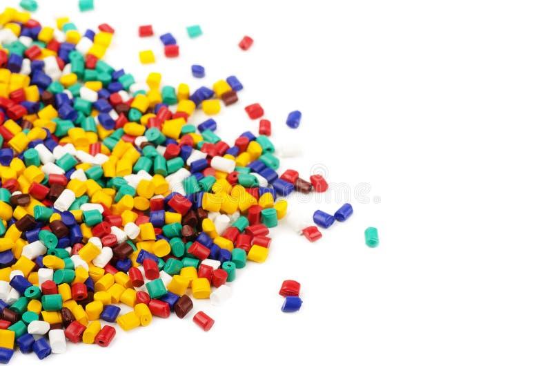 Grânulo plásticos coloridos imagens de stock