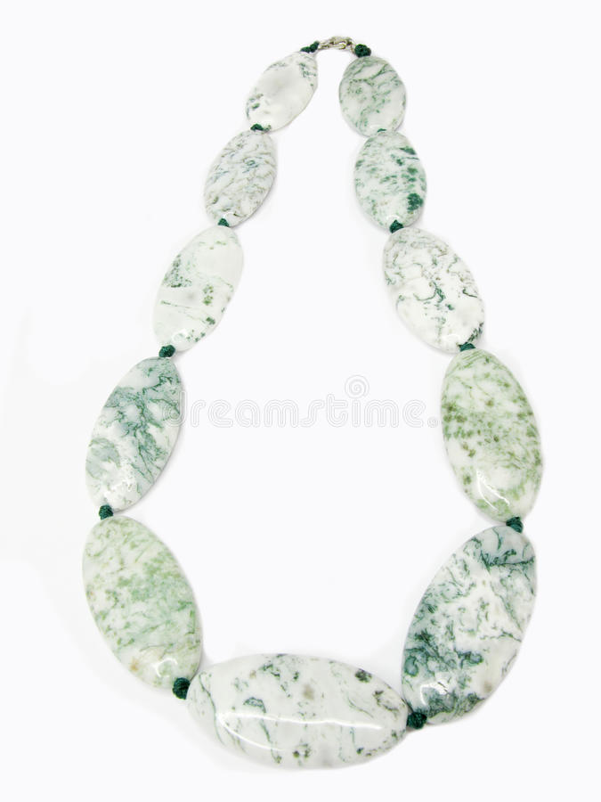 Grânulos brancos e verdes fotos de stock