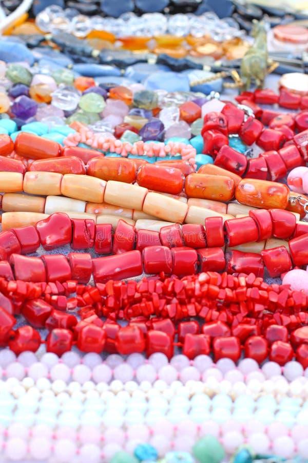 Grânulos coloridos fotos de stock royalty free