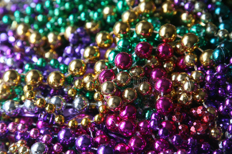 Grânulos de Mardi Gras imagens de stock