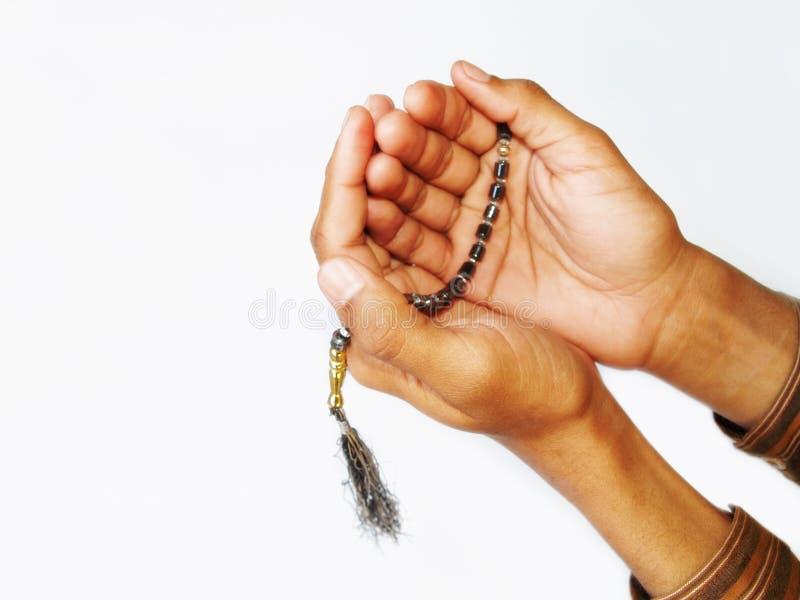 Grânulos de oração muçulmanos fotos de stock