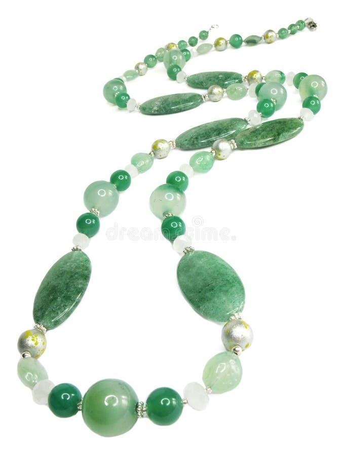 Grânulos preciosos verdes foto de stock royalty free