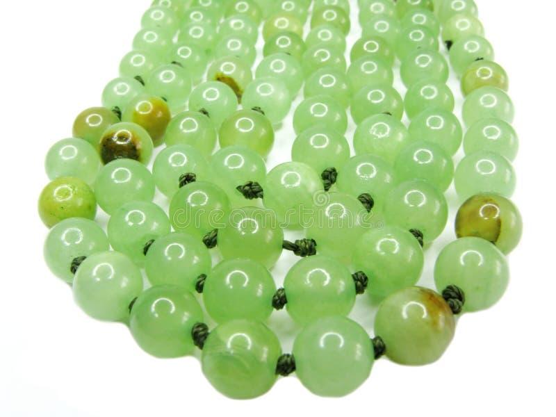 Grânulos verdes do onyx imagens de stock royalty free