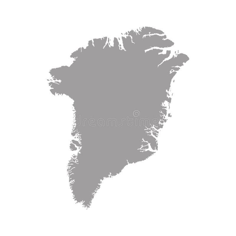 Grönland-Karte Hohe ausführliche Vektorkarte mit Grafschaften/Regionen/Staaten von Grönland auf weißem Hintergrund stock abbildung