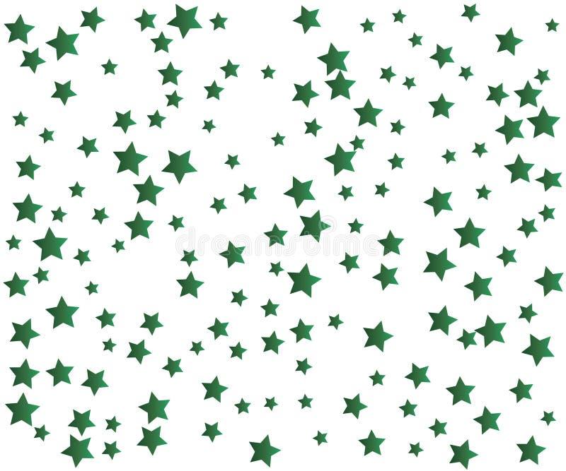Grüner Stardust-Hintergrund vektor abbildung