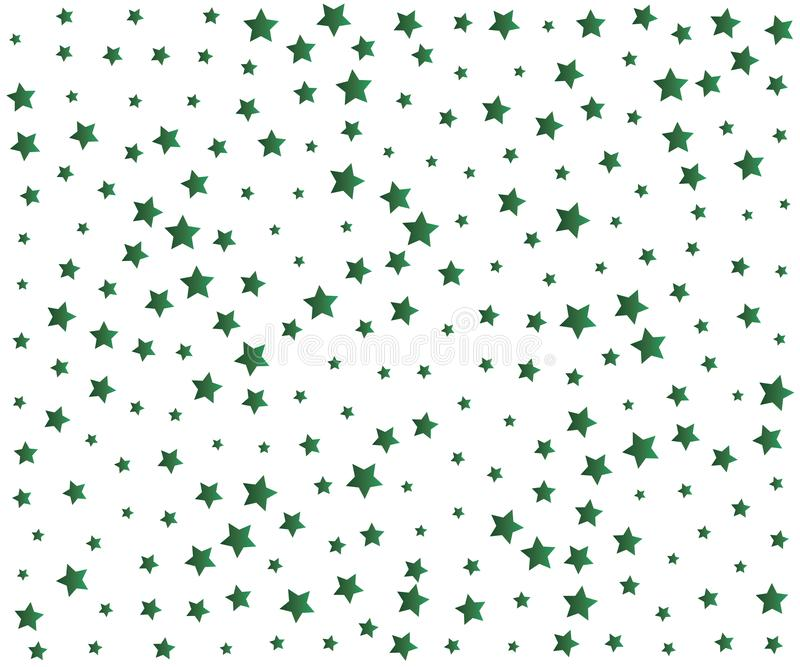Grüner Stardust-Hintergrund lizenzfreie abbildung