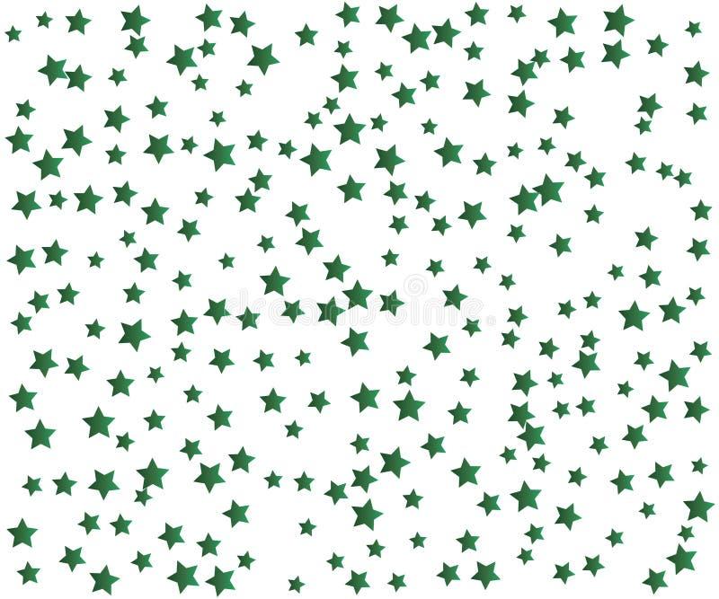 Grüner Stardust-Hintergrund stock abbildung