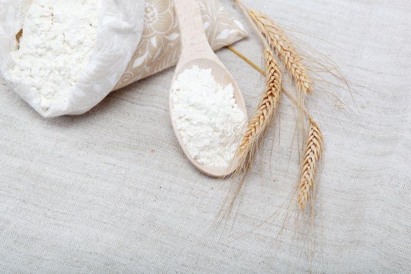 Grão da farinha e do trigo. imagens de stock