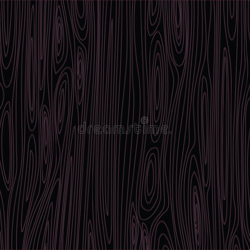 Grão da madeira do ébano ilustração stock