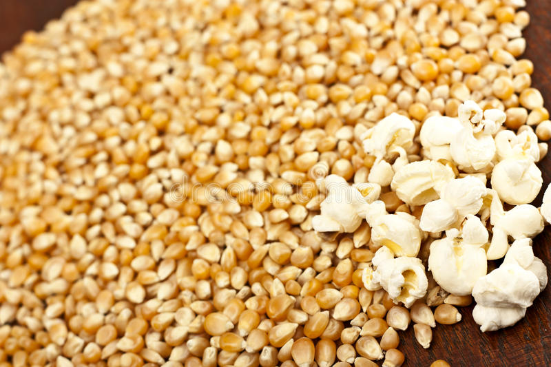 Download Grão da pipoca e do milho imagem de stock. Imagem de vegetal - 24355307