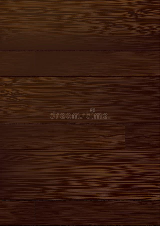 Grão de madeira escura ilustração do vetor