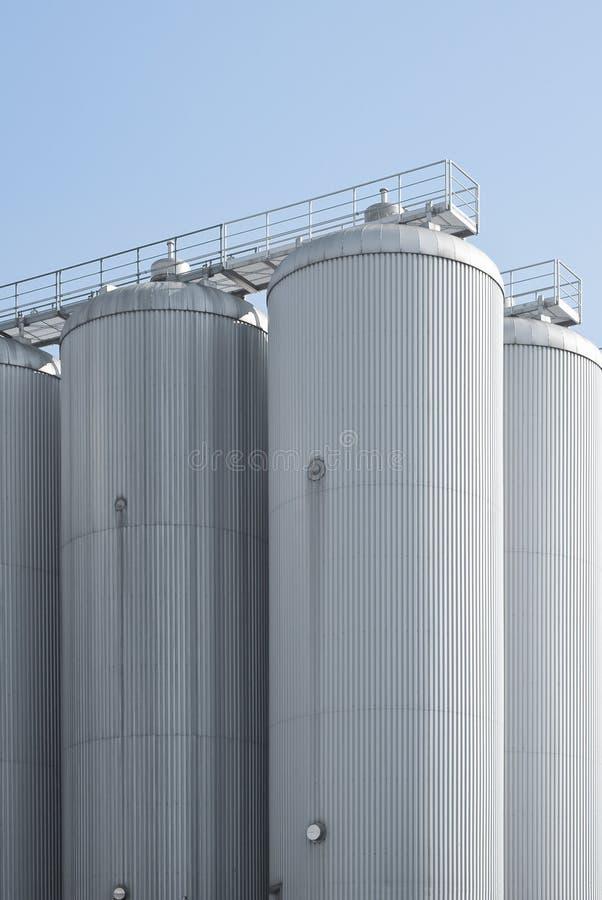 Grão industrial da carcaça do silo da agricultura fotos de stock