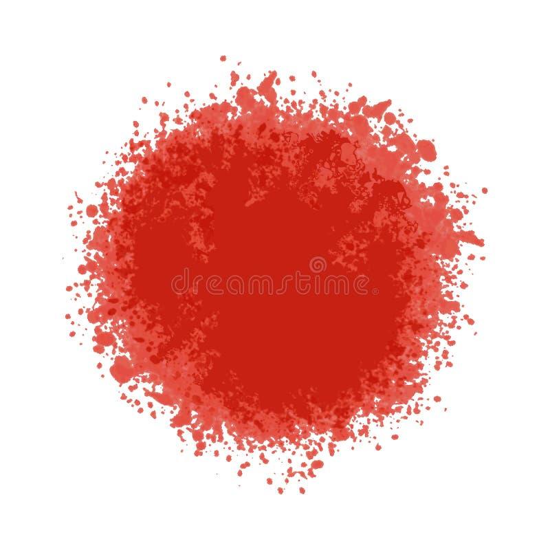 A grão ou a areia das partículas montaram em uma cor coral viva do círculo Os estilhaços da textura do contexto do vetor, remenda ilustração do vetor