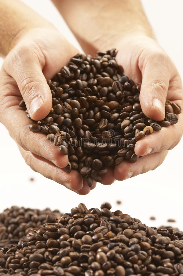 Grãos de café imagem de stock royalty free