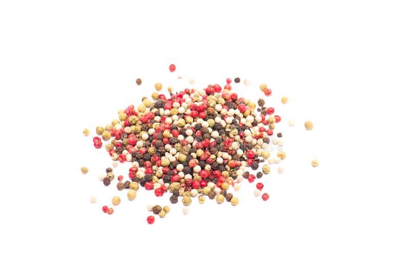 Grãos de pimenta misturados foto de stock