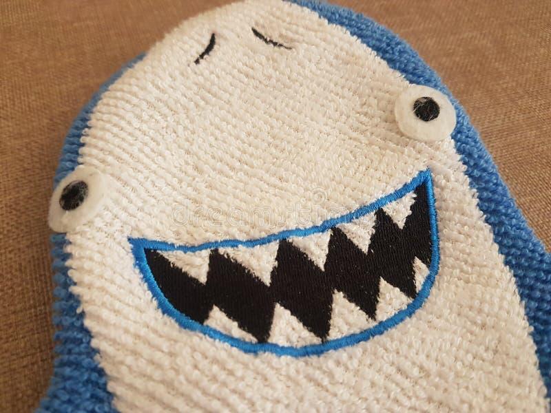 Gränd för blå och vit haj som badar royaltyfri fotografi