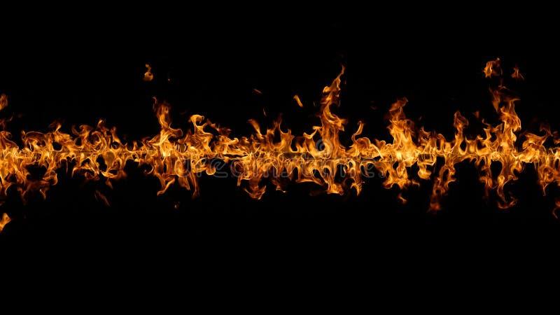 Gräns av brand på svart fotografering för bildbyråer