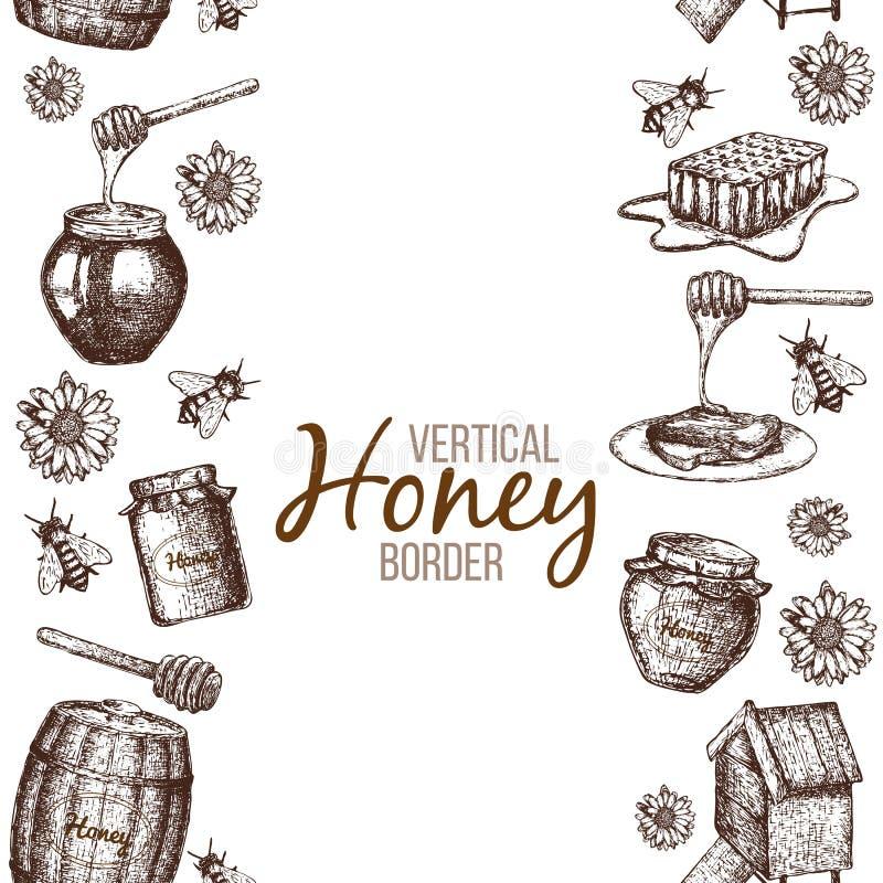 Gräns av honung vektor illustrationer