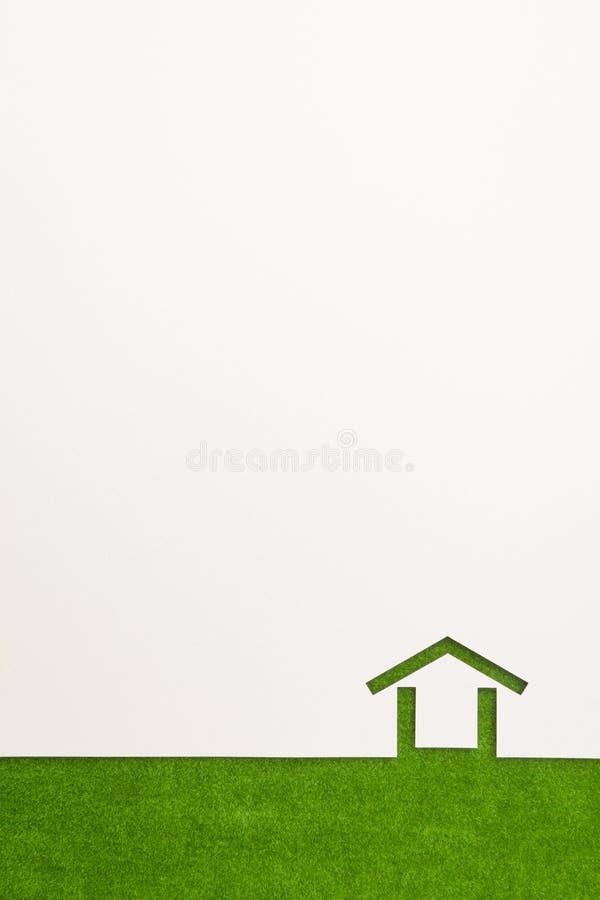 Gräns av minsta husbakgrund för grön sammet arkivfoton