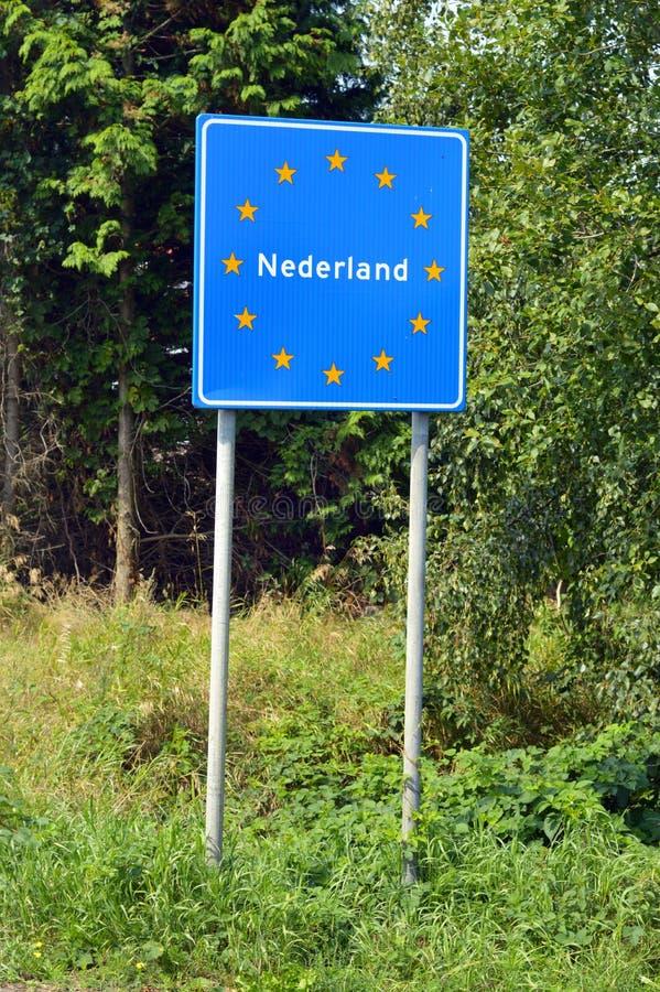 Gräns av Nederländerna royaltyfria bilder