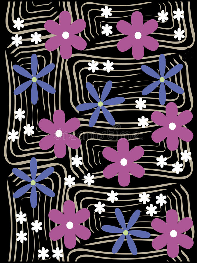 Gräns för blom- design vektor illustrationer
