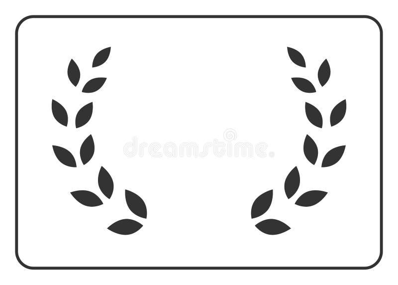 Gräns 16 för lagerkranssymbol vektor illustrationer