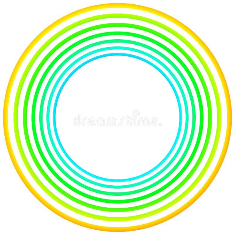 Gräns för ram för gröna tappningcirklar rund royaltyfri illustrationer