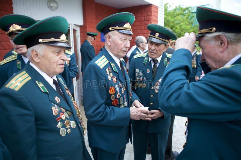 Gränsbevakningdag i Cherkassy arkivbild