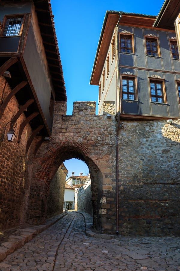 Gränsmärke av Plovdiv, Bulgarien fotografering för bildbyråer