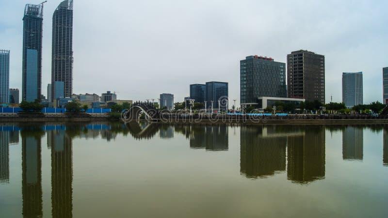 Gränsmärkearkitektur i Yinchuan, Kina royaltyfri foto