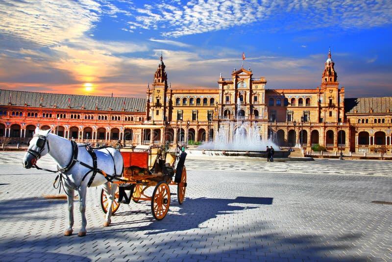 Gränsmärken av Spanien - Seville, Andalusia royaltyfri foto