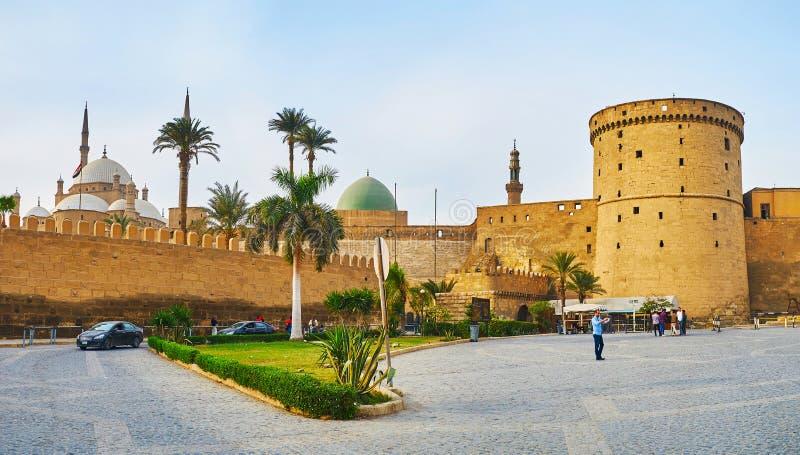 Gränsmärkena av Kairocitadellen, Egypten royaltyfria bilder