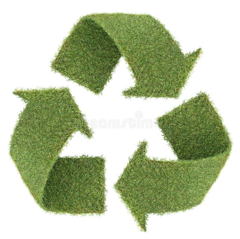 gräs återanvänder symbol royaltyfria foton
