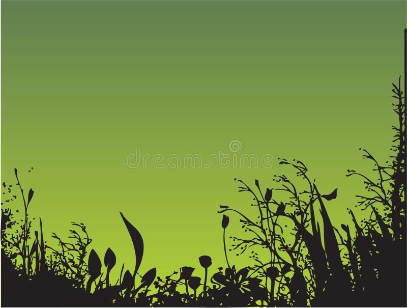 gräs stock illustrationer