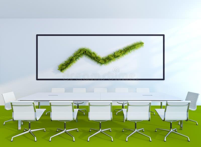 Gräs i regeringsställning stock illustrationer