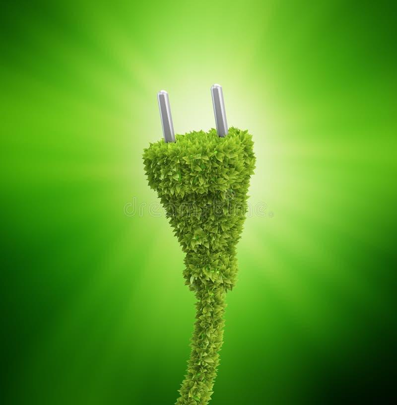 Gräs räknade den elektriska proppen royaltyfri illustrationer