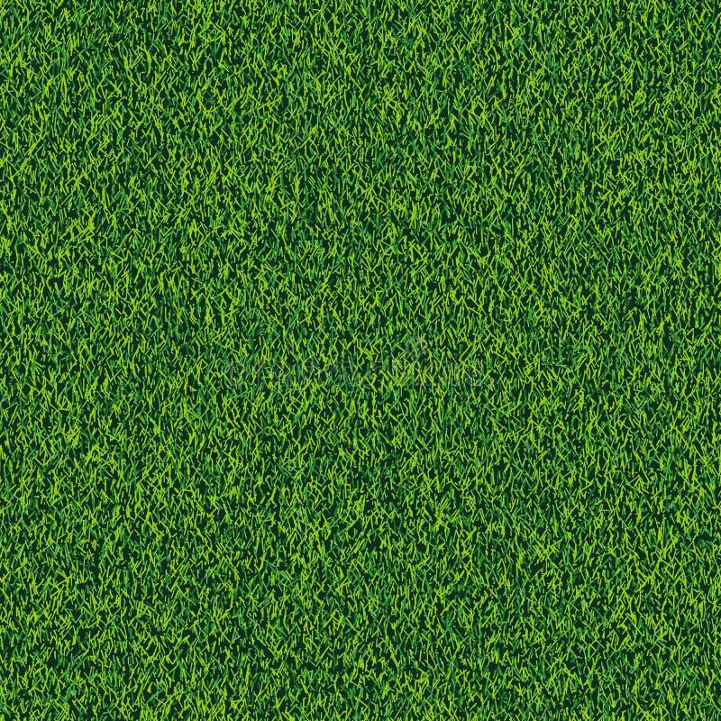 Gräs sömlös realistisk textur Grön gräsmatta, fält eller ängvektorbakgrund Sommar- eller vårnaturillustration vektor illustrationer