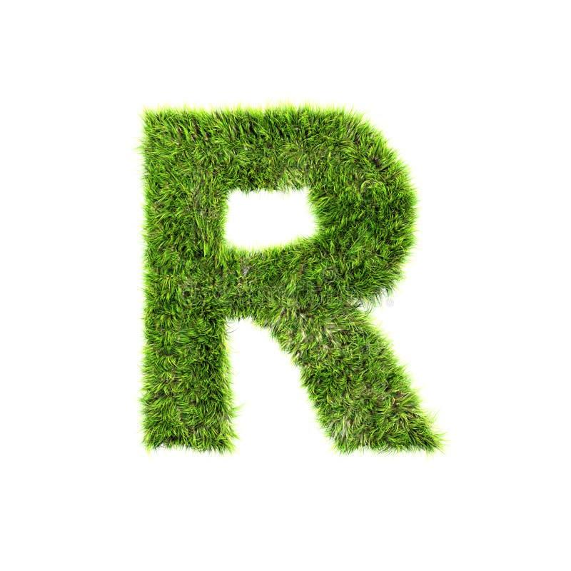 gräsbokstav stock illustrationer