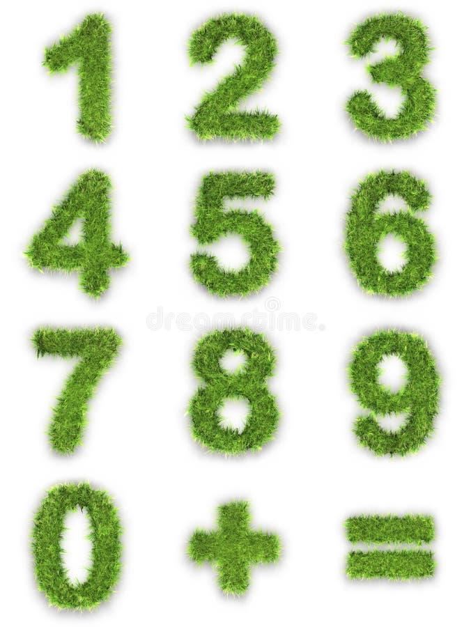 gräsgreen gjorde nummer stock illustrationer