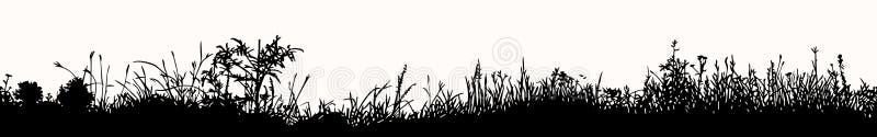 Gräshorisontalsömlös modell stock illustrationer