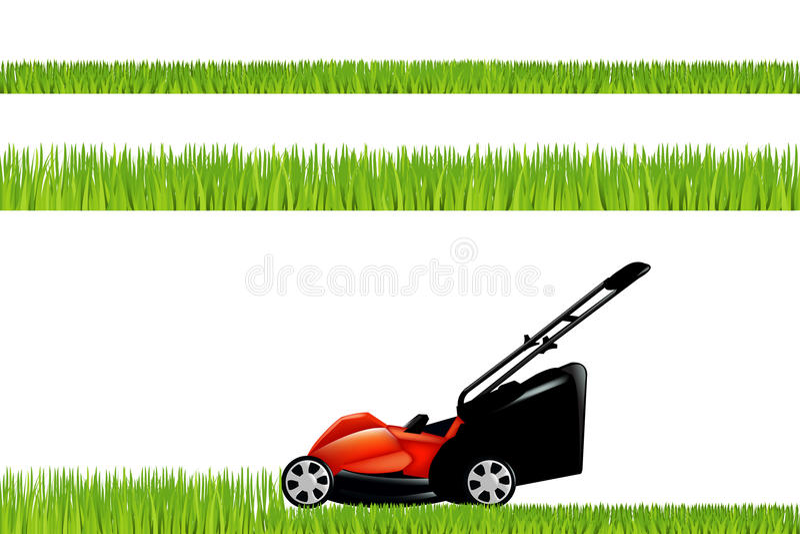 gräsklippare vektor illustrationer