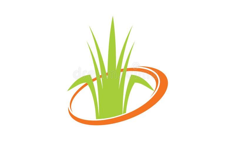 Gräsklippareservice stock illustrationer