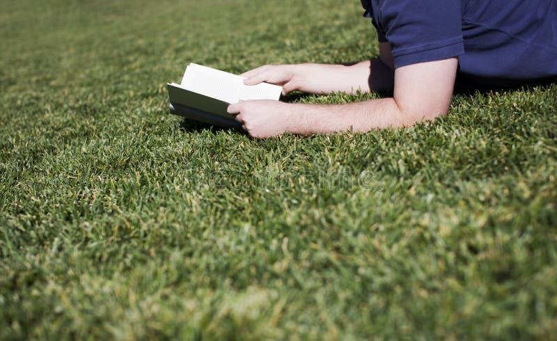 gräsmanavläsning royaltyfria foton
