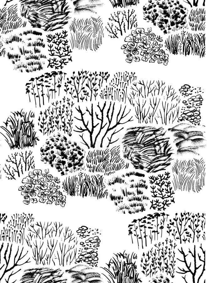 Gräsmodell stock illustrationer