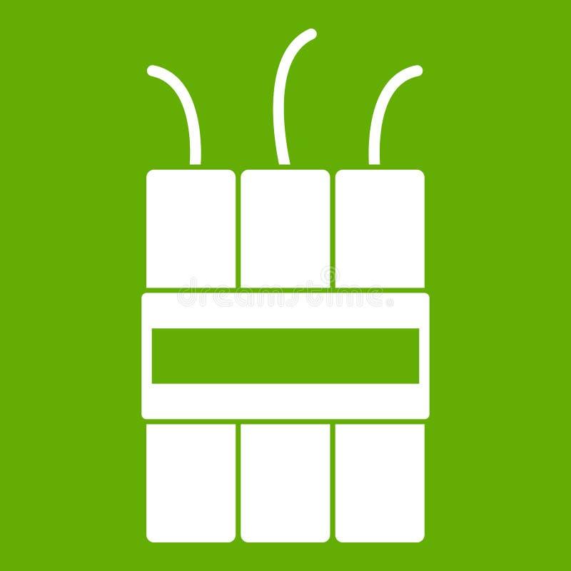 Gräsplan för dynamitsprängmedelsymbol royaltyfri illustrationer