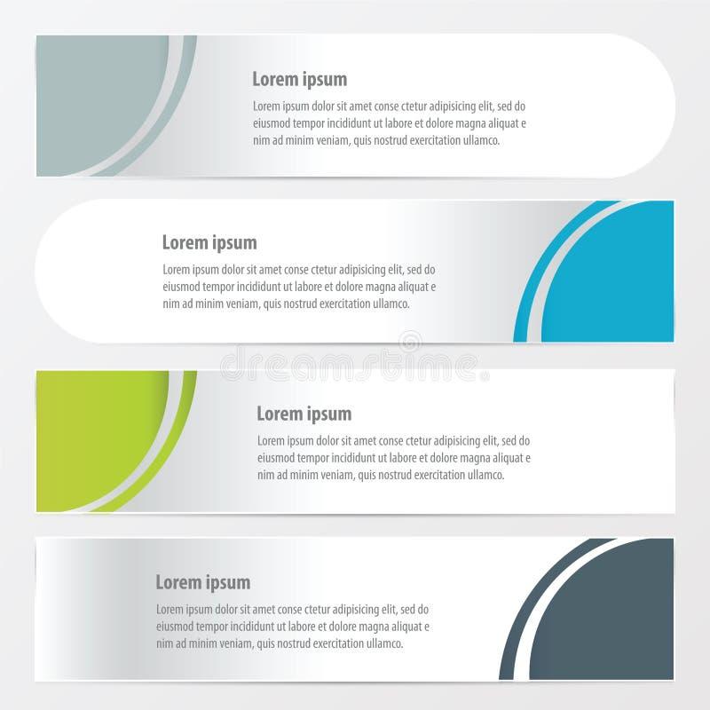 Gräsplan för kurvbanerstil, blått, grå färger färgar royaltyfri illustrationer