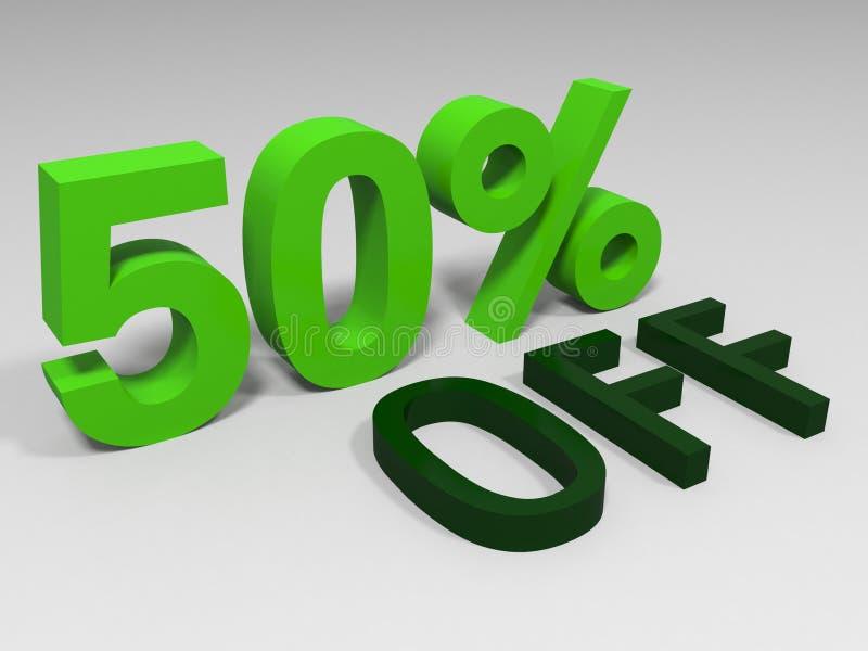 Gräsplan femtio procent royaltyfri illustrationer