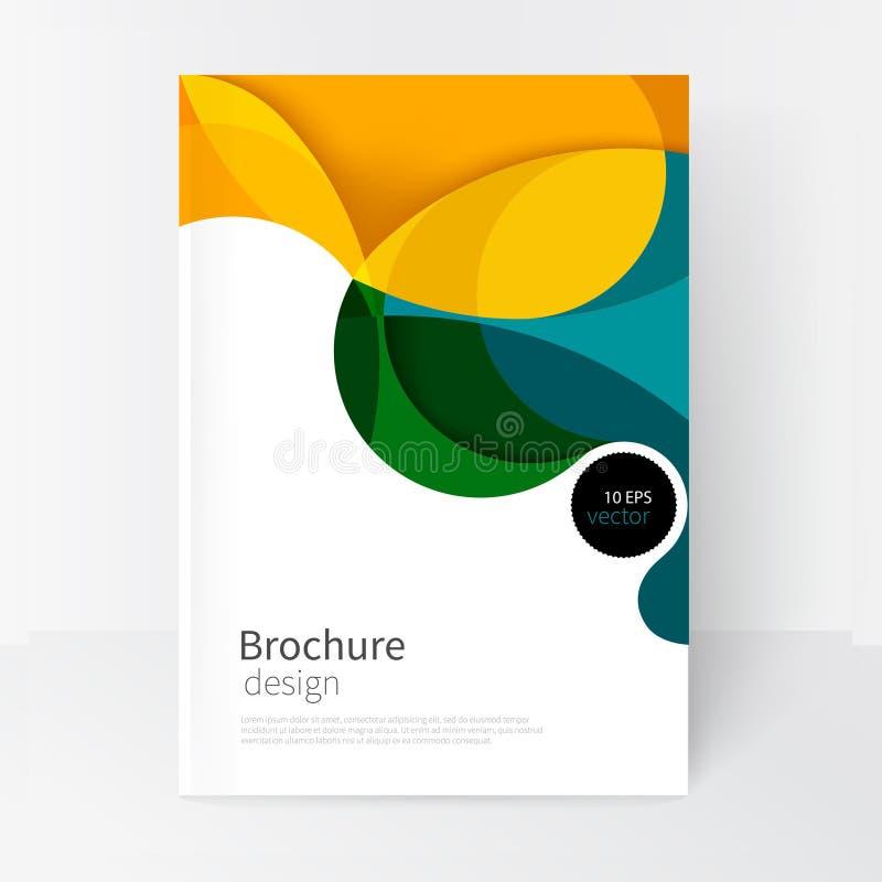 Gräsplan-, guling- och blåttvågor stock illustrationer