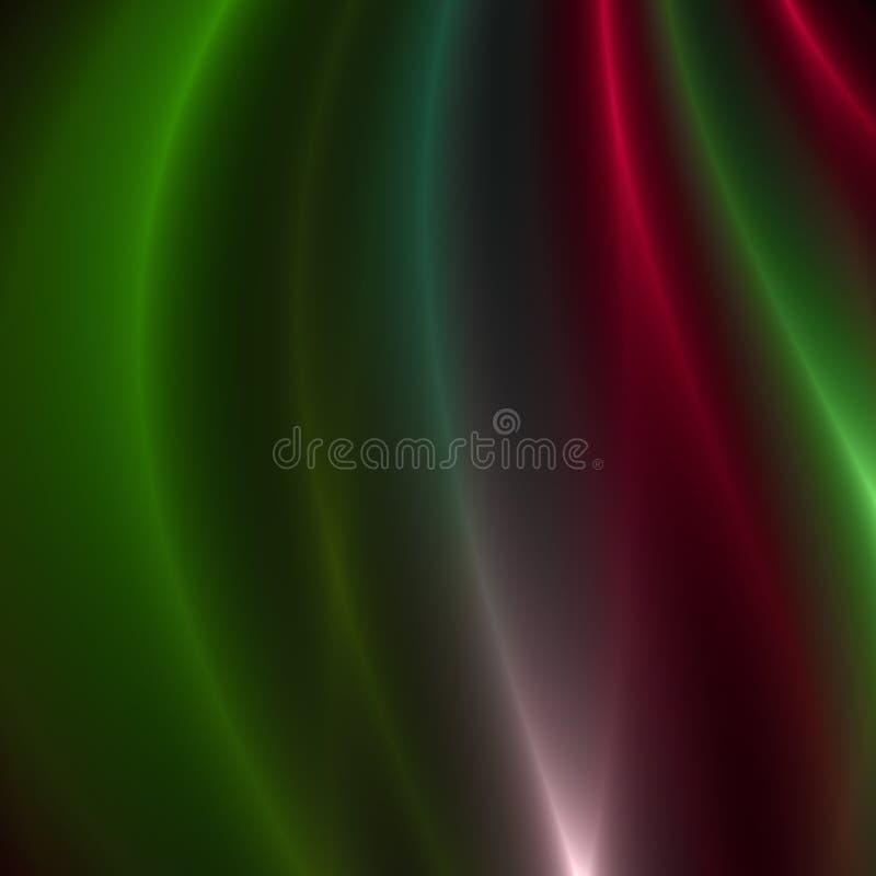 Gräsplan och röda strimmor av ljus stock illustrationer